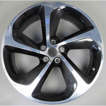 Jaguar F Type Carbon Fibre Silver Weave 5 Spoke Wheel