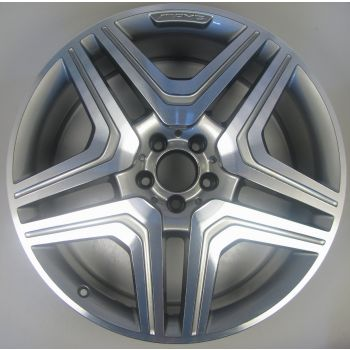 1664012800 AMG Mercedes 166 ML GL 5 Twin Spoke Wheel 10 x 21