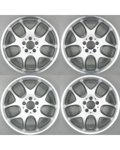 "512-858-35 Brabus Monoblock V 5 Twin Spoke Set of 4 Wheels 8.5 x 18"" ET35 X2077, X2078, X2087, X2089"