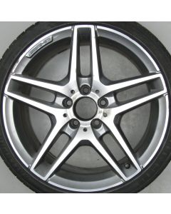 "2124010300 AMG Mercedes IV 212 E-Class 5 Twin Spoke Wheel 8.5 x 18"" ET48 X638"