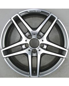 "2124010300 AMG Mercedes IV 212 E-Class 5 Twin Spoke Wheel 8.5 x 18"" ET48 X899"