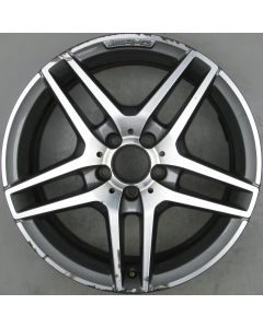 "2124010300 AMG Mercedes IV 212 E-Class 5 Twin Spoke Wheel 8.5 x 18"" ET48 X955"