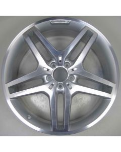 "1664012102 AMG Mercedes 166 ML GL Twin 5 Spoke Wheel 9 x 21"" ET53 Z7952"