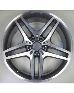 "1664013700 AMG Mercedes 166 ML GL 5 Twin Spoke Wheel 9 x 21"" ET53 Z7953"