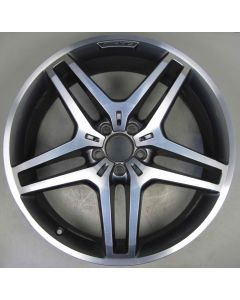 "1664013700 AMG Mercedes 166 ML GL 5 Twin Spoke Wheel 9 x 21"" ET53 Z8452"