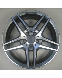 "2124010300 AMG Mercedes IV 212 E-Class 5 Twin Spoke Wheel 8.5 x 18"" ET48 Z9543"